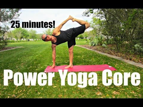 25 min Power Yoga Ab & Core Workout Shred – At Home Exercises #poweryoga