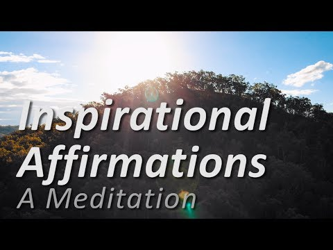 Inspirational Affirmations ~ Meditation Video for Subconscious Motivation (Relaxation Hypnosis)