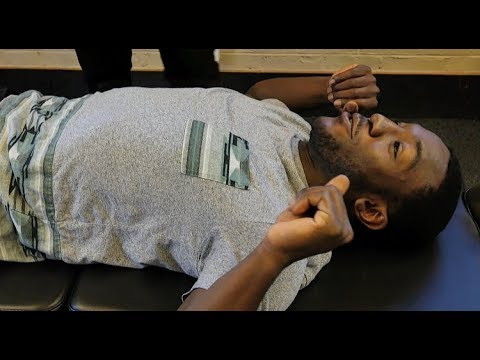 *STRESS RELIEF* First Time FULL BODY *Y-Strap* Chiropractic Crack
